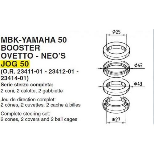 Cuscinetti del cannotto dello sterzo a sfere BOOSTER 50/4/va 95/ /99